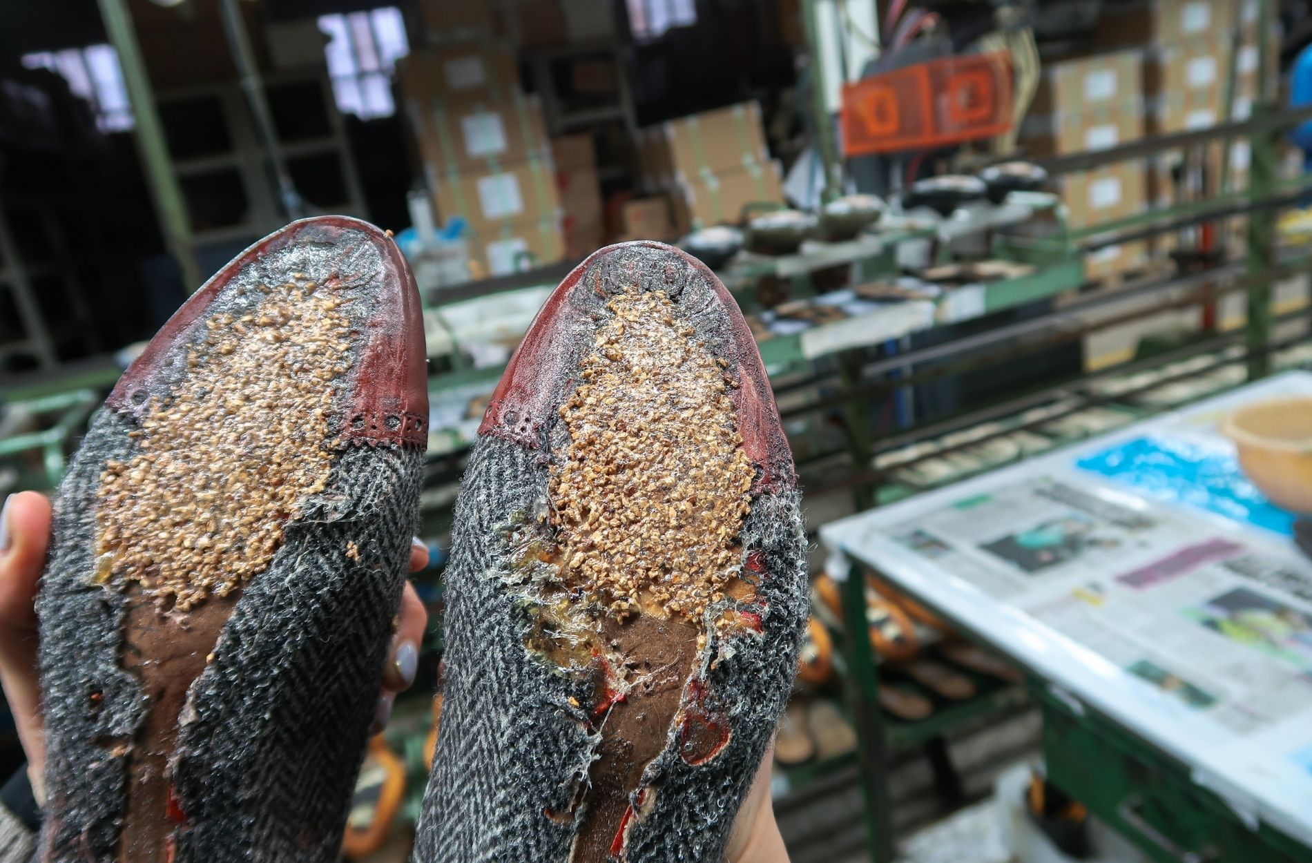 cork inner soles in liebre style boots