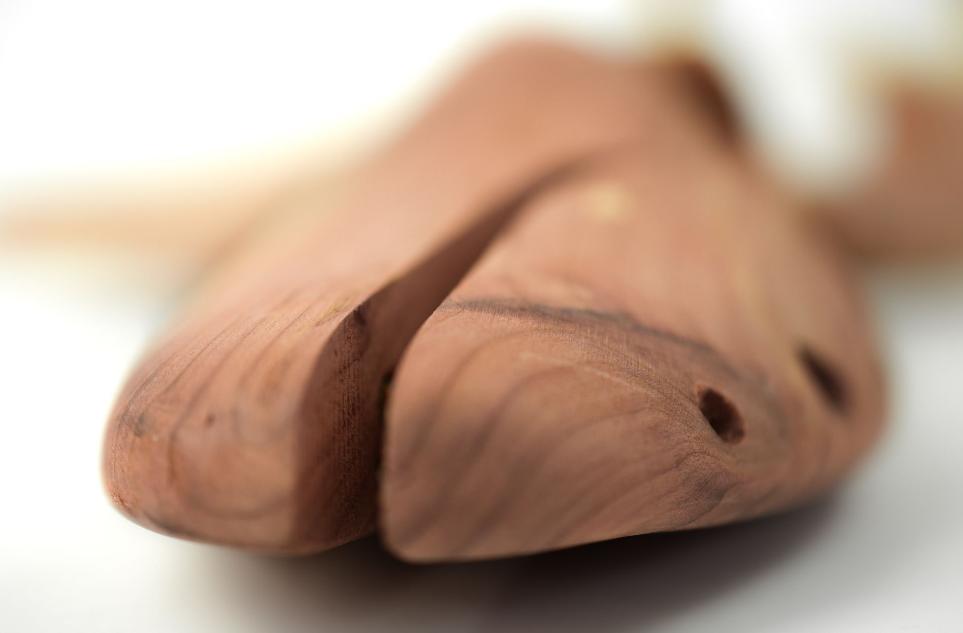 detail of cedar wood shoe tree from liebre style