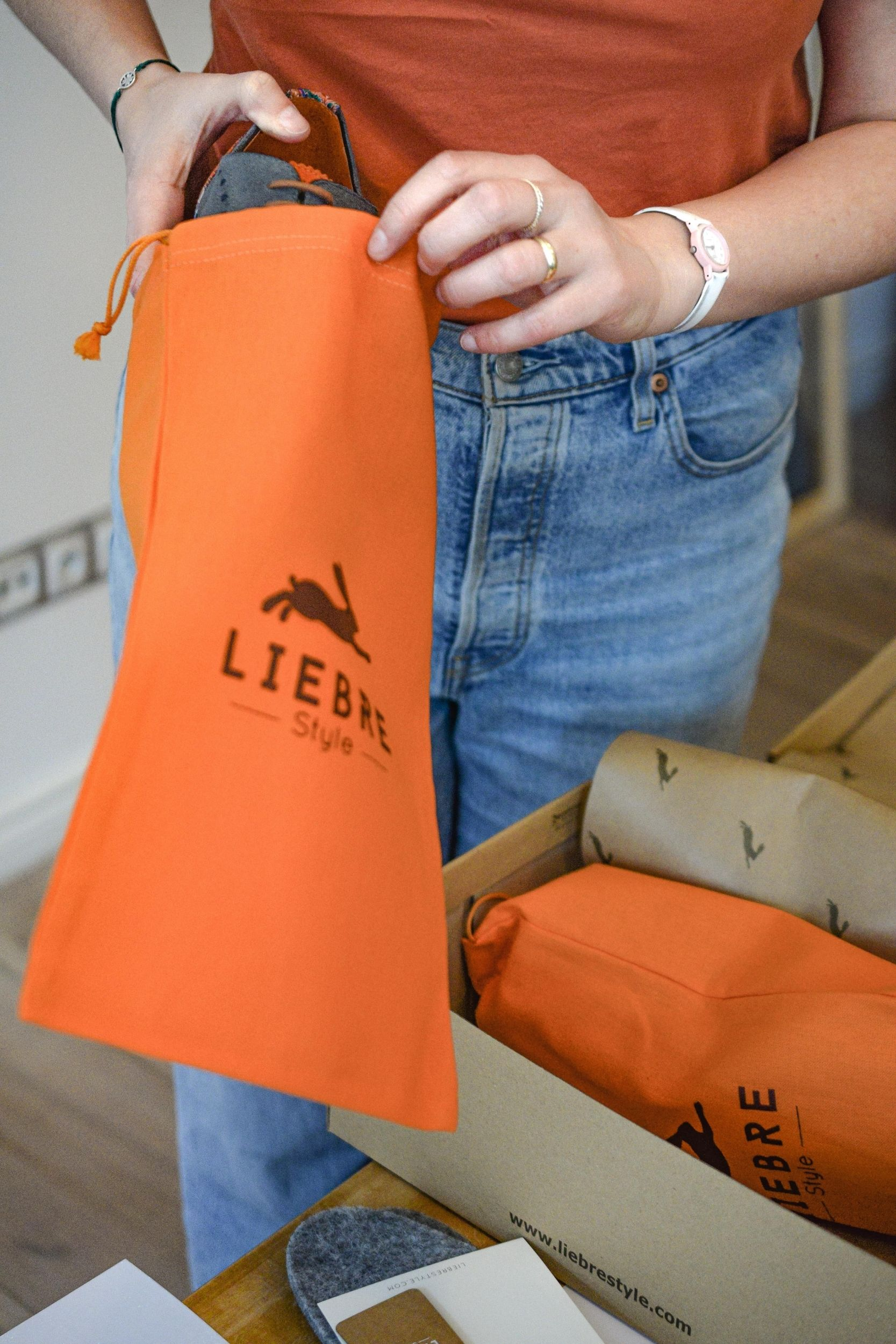cotton bags to protect oxford shoes by liebre style