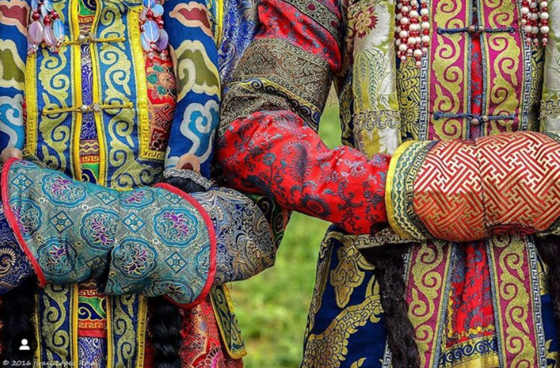 details of mongolian traditional textiles used in liebre style collection