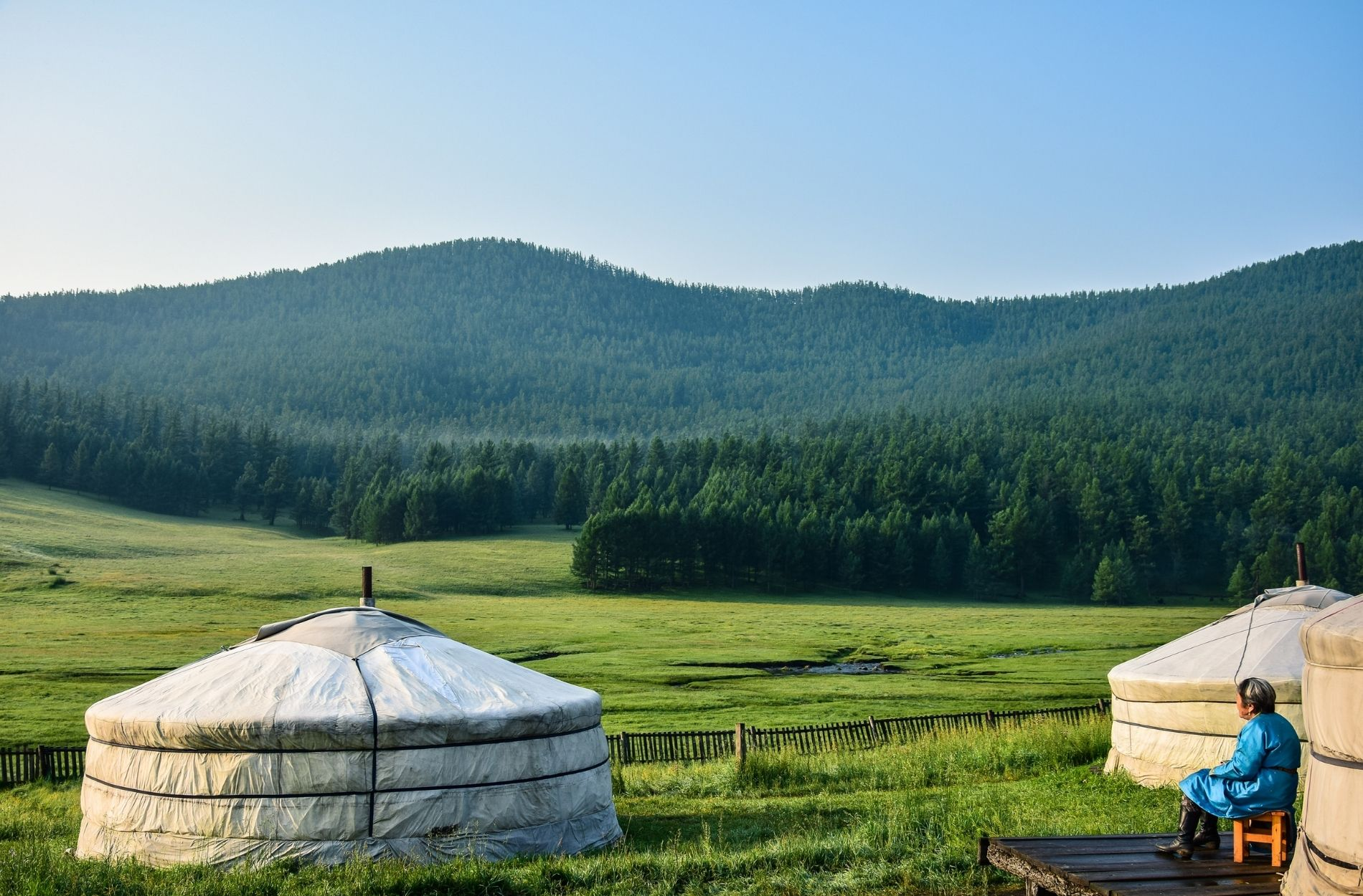 landscapes of mongolia seen during textile hunting trip for liebre style