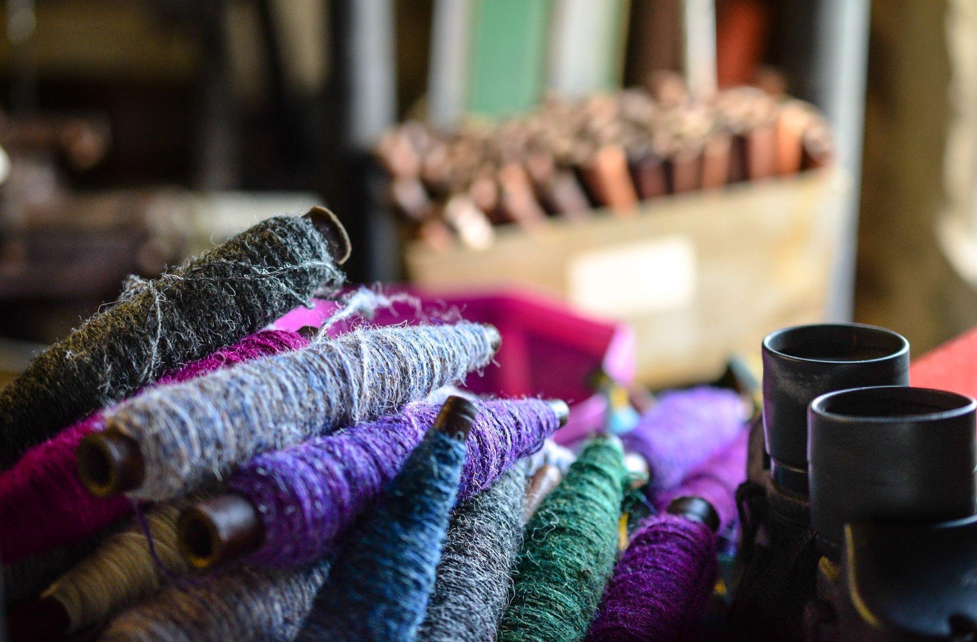 virgin wool used on the making of liebre style harris tweed materials