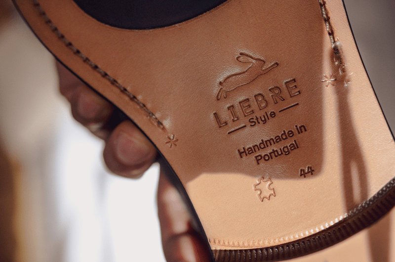 details in the leather soles of liebre style shoes which are blake stiteched