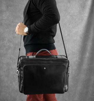 Nocturnal Scotland Man Briefcase perfect for casual outfit
